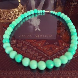 Jewelry - Mint green retro chunky beaded necklace